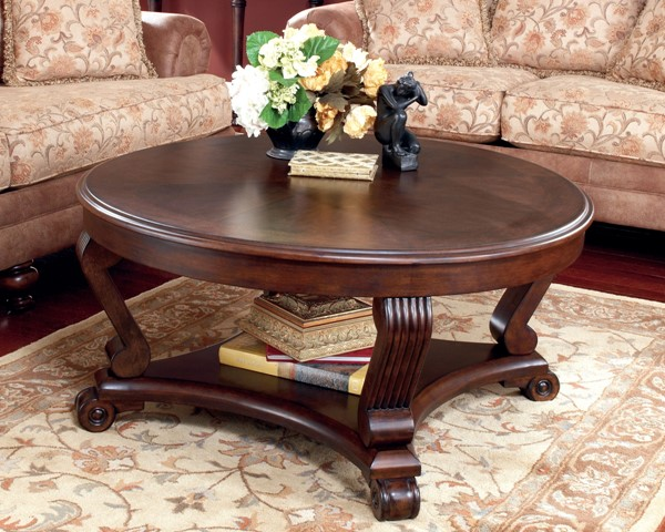 Ashley Furniture Brookfield Round Cocktail Table T496-8