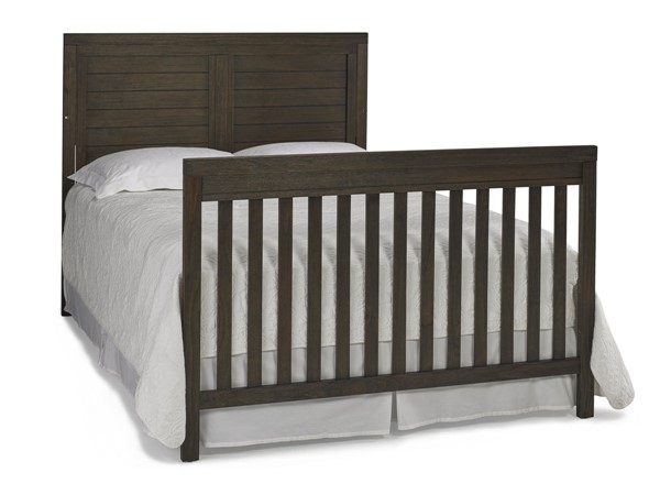 TiAmo Castello Weathered Brown Twin Bed with Rails TMO-148042-52