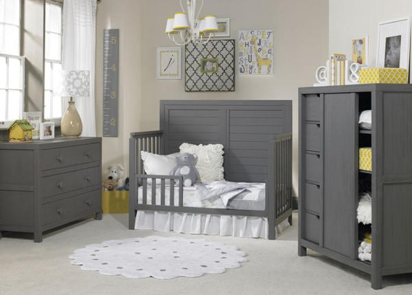 TiAmo Castello Weathered Grey 2pc Toddler Set with Dresser TMO-148004-KBR-S6