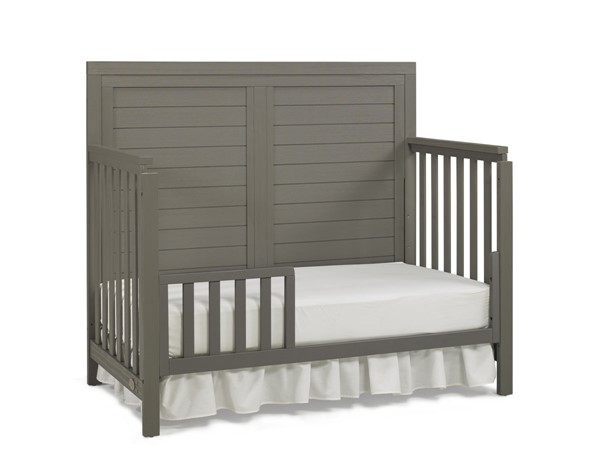 TiAmo Castello Weathered Grey Toddler Bed with Guard Rail TMO-148004-189936-53
