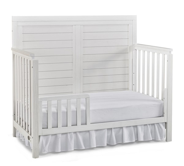 TiAmo Castello Weathered Seashell Toddler Bed with Guard Rail TMO-148004-189936-34
