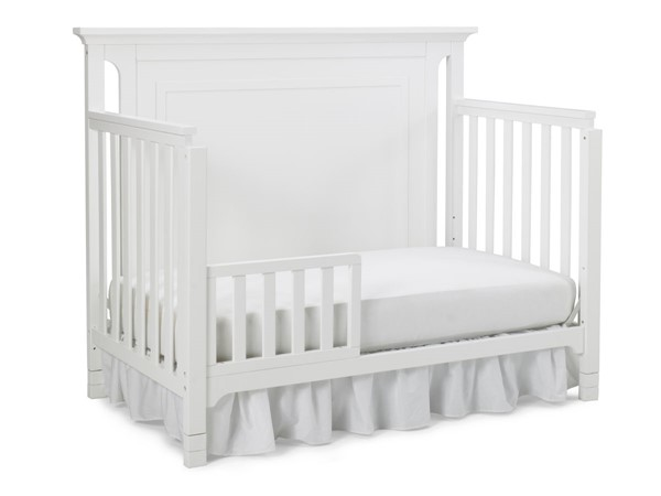 TiAmo Carino White Grey Toddler Beds with Guard Rail TMO-142001-189936-CRIB-VAR