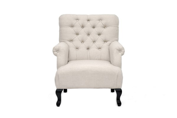York Traditional Beige Grey Mixed Linen Club Chairs TOV-63108-CH-VAR