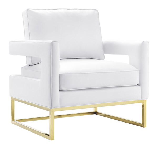 TOV Furniture Avery White Leather Chair TOV-A111