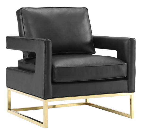 TOV Furniture Avery Black Leather Chair TOV-A112