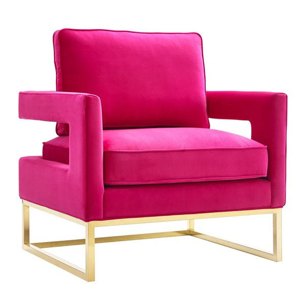TOV Furniture Avery Pink Velvet Chair TOV-A120