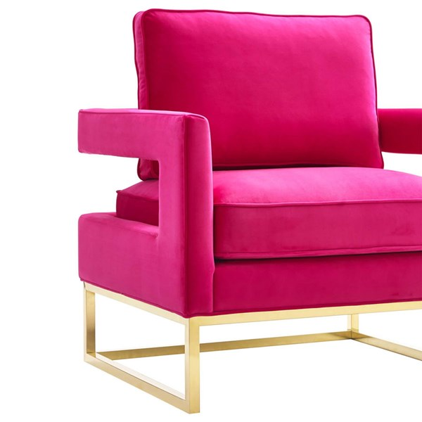 TOV Furniture Avery Pink Velvet Chair | The Classy Home
