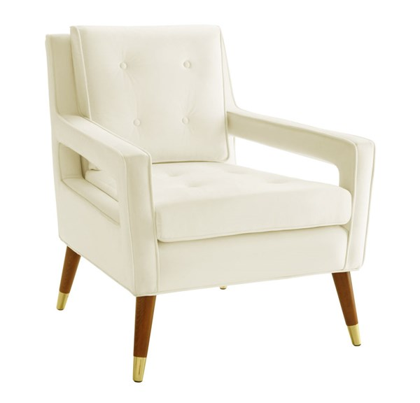 TOV Furniture Draper Cream Velvet Chair TOV-A151