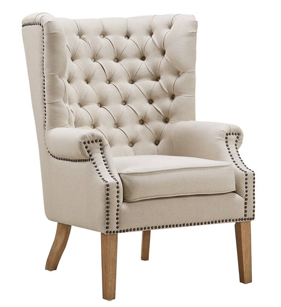 TOV Furniture Abe Beige Linen Wing Chair TOV-A2041