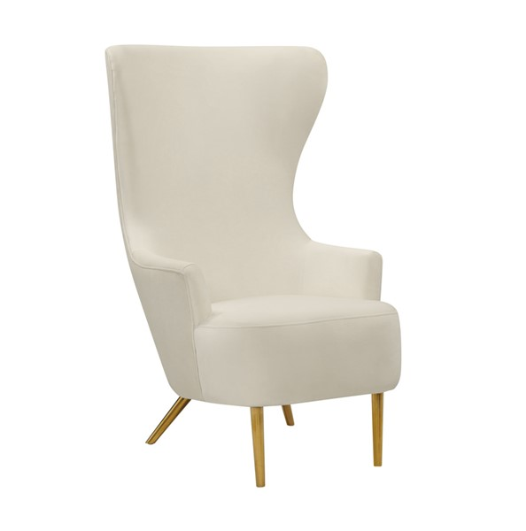 TOV Furniture Julia Cream Grey Wingback Velvet Chairs TOV-A2044-DR-CH-VAR