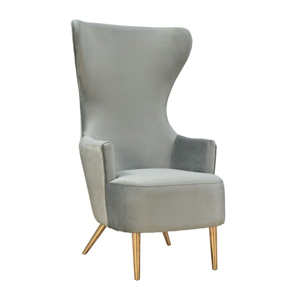 TOV Furniture Julia Grey Wingback Chair TOV-A2046-GR