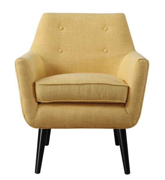 TOV Furniture Clyde Mustard Yellow Linen Chair TOV-A38-Y