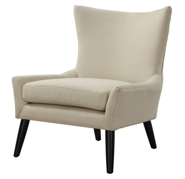Sulivan Beige Grey Mixed Linen Removable Seat Cushions Chairs TOV-A42-CH-VAR