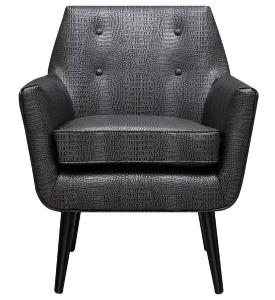Clyde Classic Black Bonded Leather Accent Chair TOV-A60
