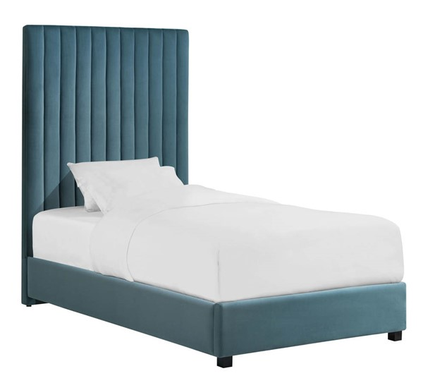 TOV Furniture Arabelle Sea Blue Twin Platform Bed TOV-B127
