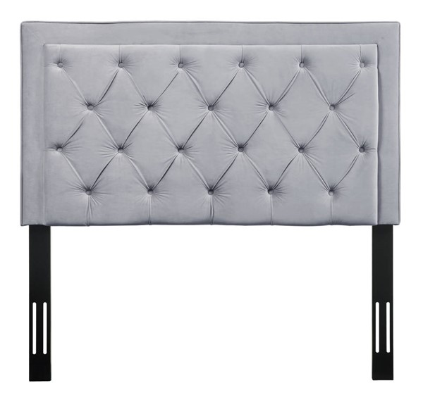 TOV Furniture Nacht Grey Velvet Twin Headboard TOV-B63-T