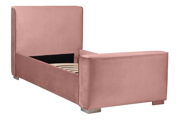 TOV Furniture Madison Dusty Rose Velvet Twin Bed TOV-B68179