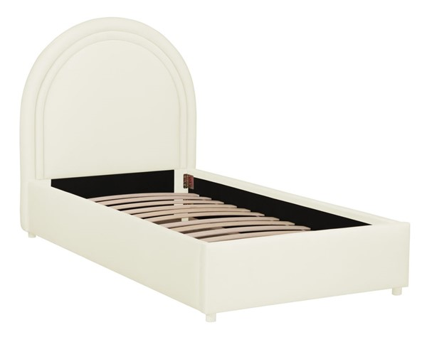 TOV Furniture Gumdrop Cream Velvet Twin Bed TOV-B68186