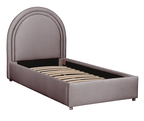 TOV Furniture Gumdrop Grey Velvet Twin Bed TOV-B68189