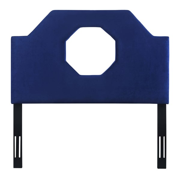 TOV Furniture Noctis Navy Velvet Twin Headboard TOV-B73-T