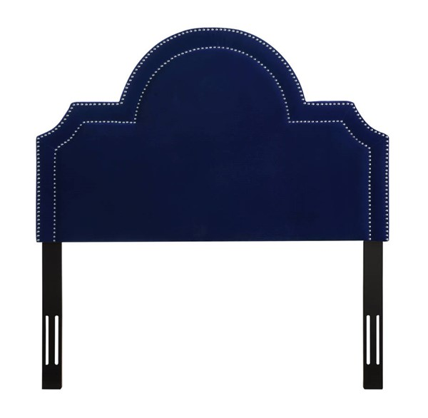 TOV Furniture Laylah Pebbled Navy Twin Headboard TOV-B88-T