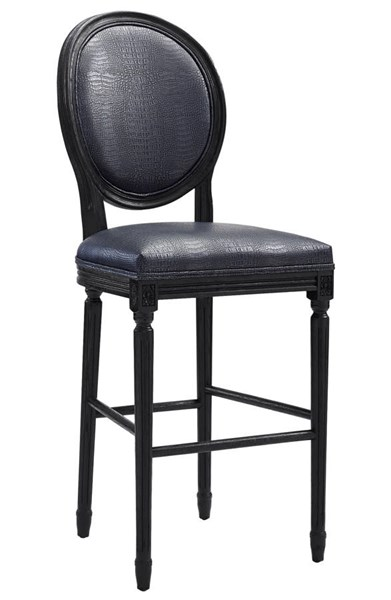 Philip Contemporary Grey Silver Eco Leather Croc Barstools TOV-BS09-8-BS-VAR