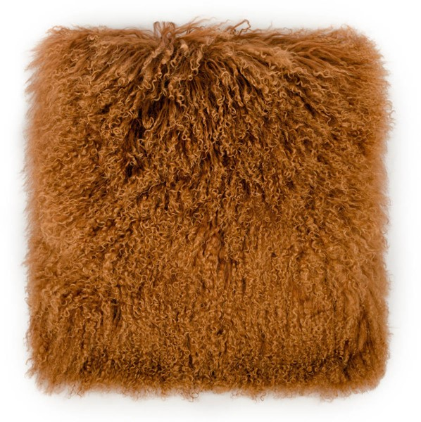 TOV Furniture Moody Copper Tibetan Sheepskin Pillow TOV-C5717