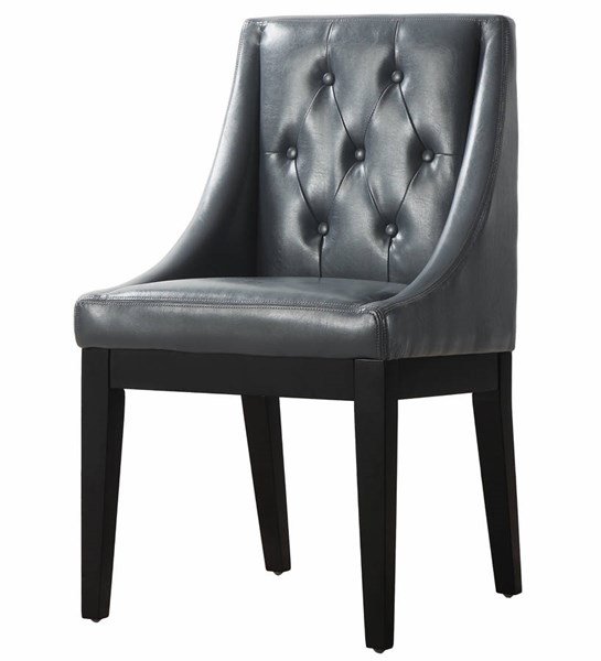 Tess Grey Black Bonded Leather Dining Chair TOV-D26