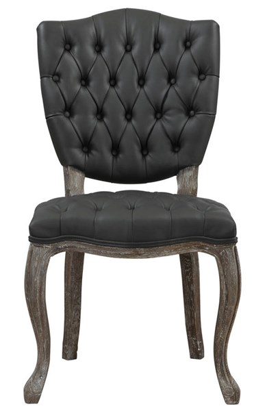 2 Amelia Rustic Bonded Leather Dining Chairs TOV-D32-31-CH-VAR