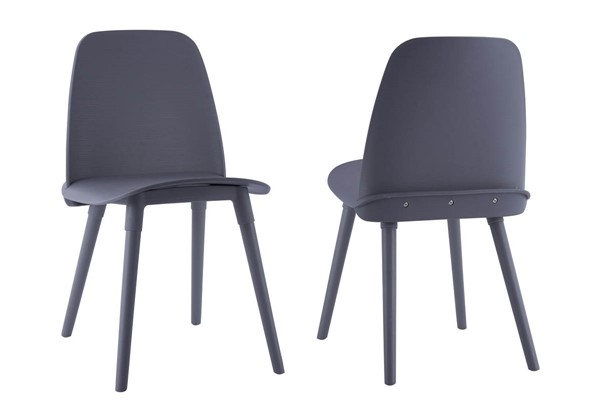 2 TOV Furniture Cosmo Polypropylene Chairs TOV-D3908-DR-CH-VAR