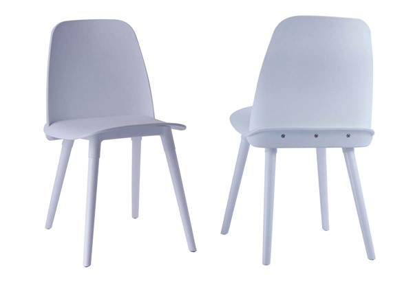 2 TOV Furniture Cosmo White Polypropylene Chairs TOV-D3910