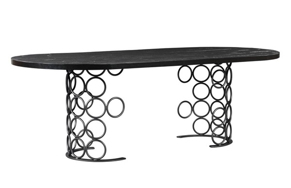 TOV Furniture Valentina Antique Black Dining Table TOV-D44012