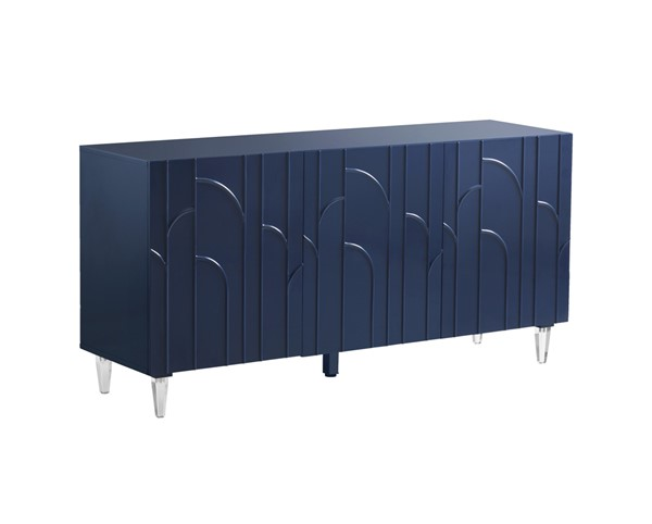 TOV Furniture Deco Blue Lacquer Buffet TOV-D5515