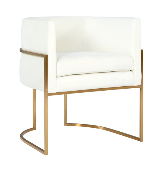 TOV Furniture Giselle Cream Grey Velvet Gold Frame Dining Chairs TOV-D6303-DR-CH-VAR