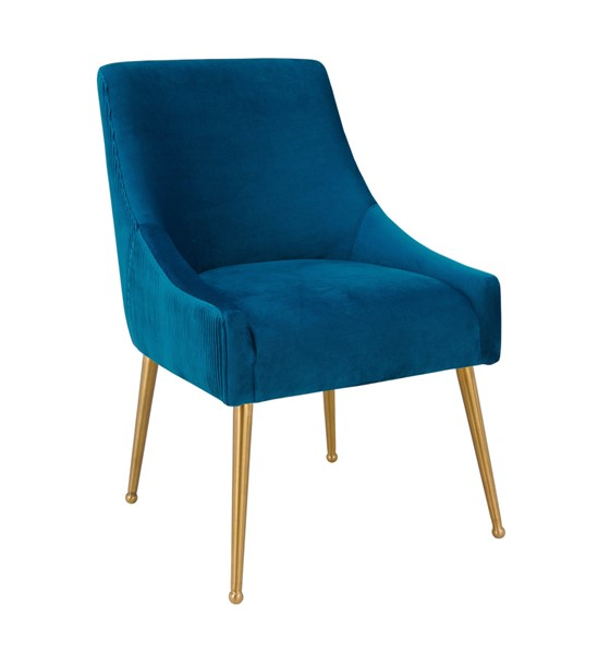 TOV Furniture Beatrix Navy Velvet Side Chair TOV-D6395