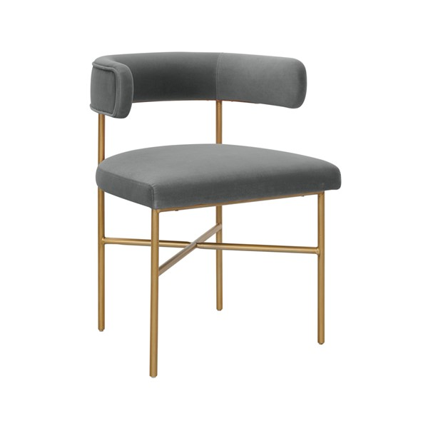 TOV Furniture Kim Grey Velvet Chair TOV-D6434