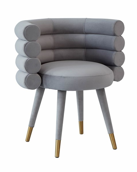 TOV Furniture Betty Grey Velvet Dining Chair TOV-D68122