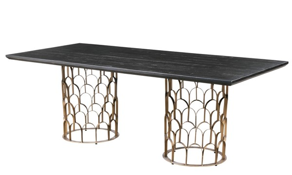TOV Furniture Gatsby Black Wood Dining Table TOV-D7067