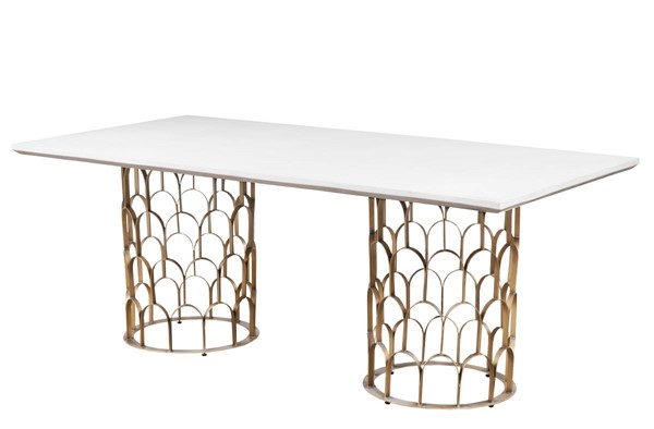 TOV Furniture Gatsby White Concrete Dining Table TOV-D7068