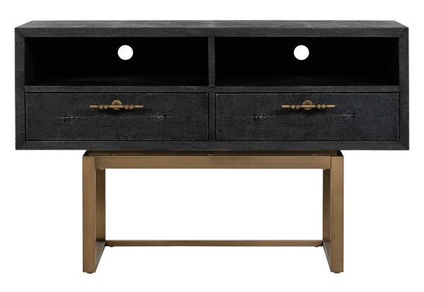 TOV Furniture Irma Dark Grey Shagreen TV Stand TOV-E44021