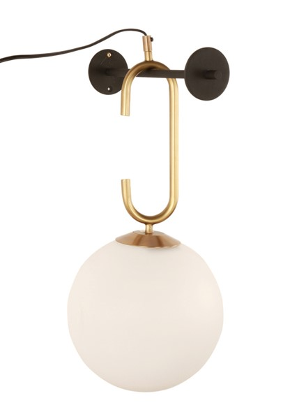TOV Furniture Lighting Brass Frosted Black Chic Wall Sconce TOV-G18158