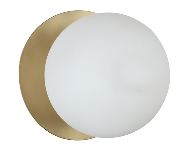 TOV Furniture Lighting Brass Frosted Globe Wall Sconce TOV-G18159