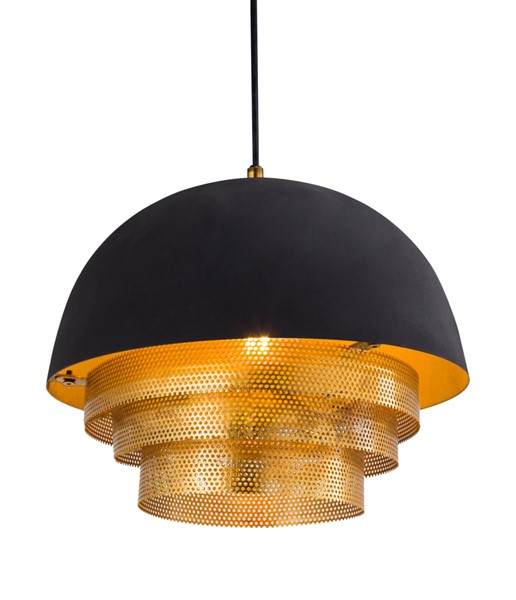 TOV Furniture Lighting Black Gold Luxor Pendant TOV-G18303