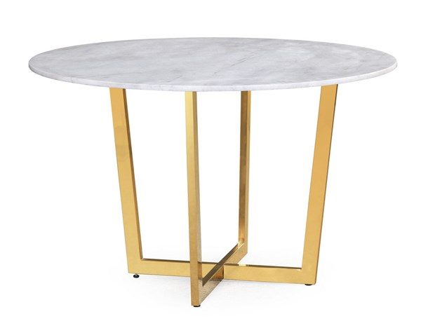 TOV Furniture Maxim White Marble Dining Table TOV-G5463