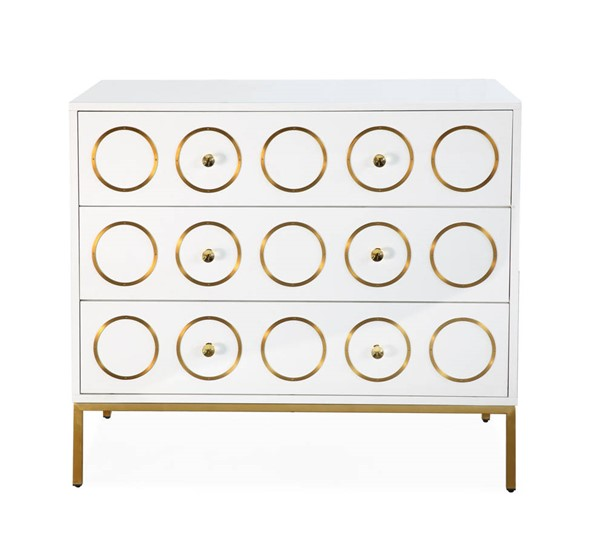 TOV Furniture Ella White Gold Chest TOV-G5494