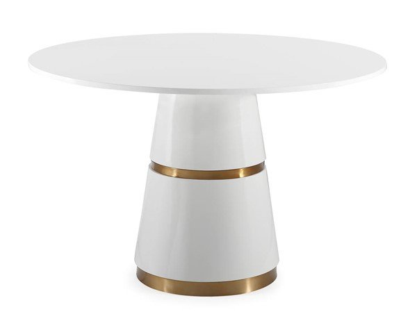 TOV Furniture Rosa White Gold Dining Table TOV-GT5505