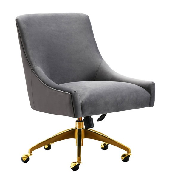 TOV Furniture Beatrix Grey Gold Swivel Office Chair TOV-H7231