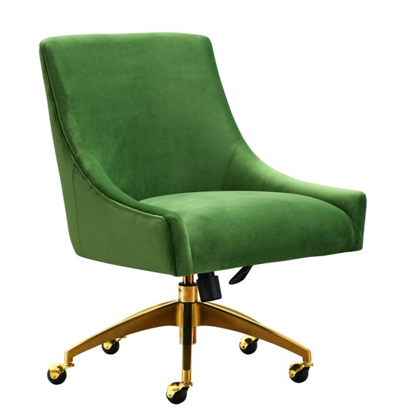 TOV Furniture Beatrix Green Gold Swivel Office Chair TOV-H7232