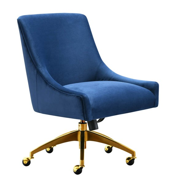 TOV Furniture Beatrix Navy Gold Swivel Office Chair TOV-H7233