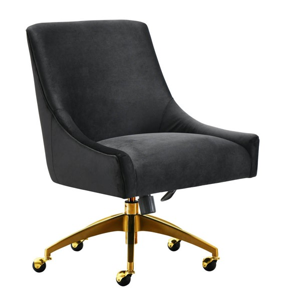 TOV Furniture Beatrix Black Gold Swivel Office Chair TOV-H7234